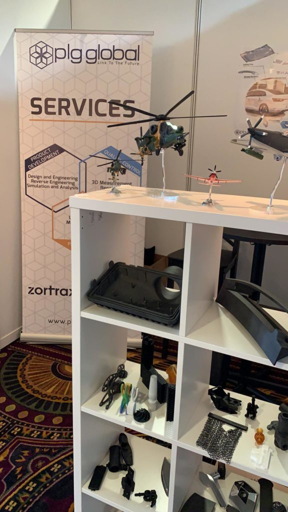 3D printing parts at the manufacturing and supply chain conference